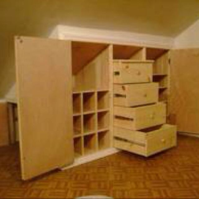 Unique Kitchen Storage Ideas Small Space Furniture: Built In Dresser, Attic Remodel, Attic