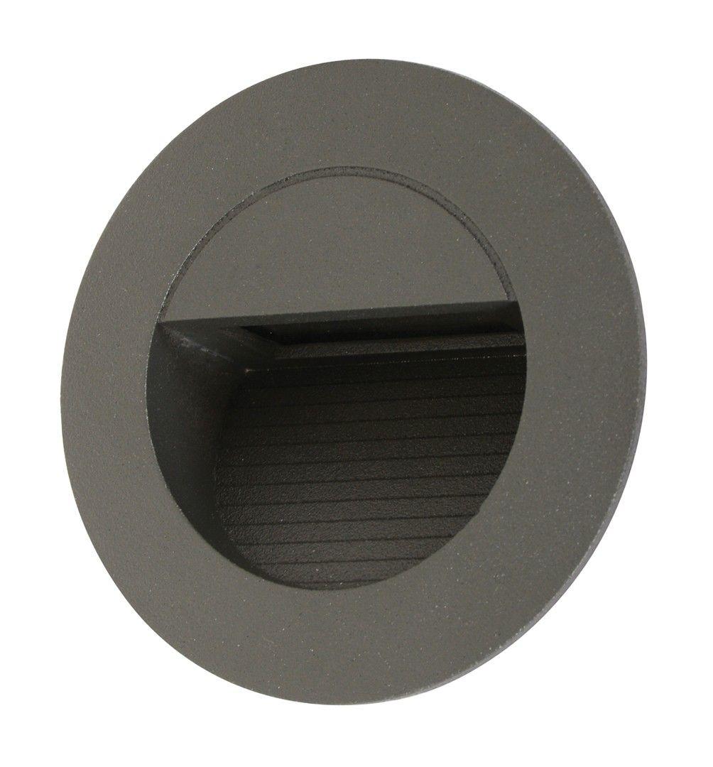 Ledlux Desi 240v Weatherproof Round Steplight In Charcoal Beacon Lighting Ceiling Fan Installation Desi