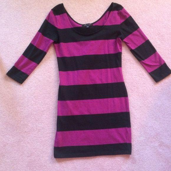 Striped Bodycon Dress Forever 21 striped bodycon dress in size medium. Forever 21 Dresses Mini