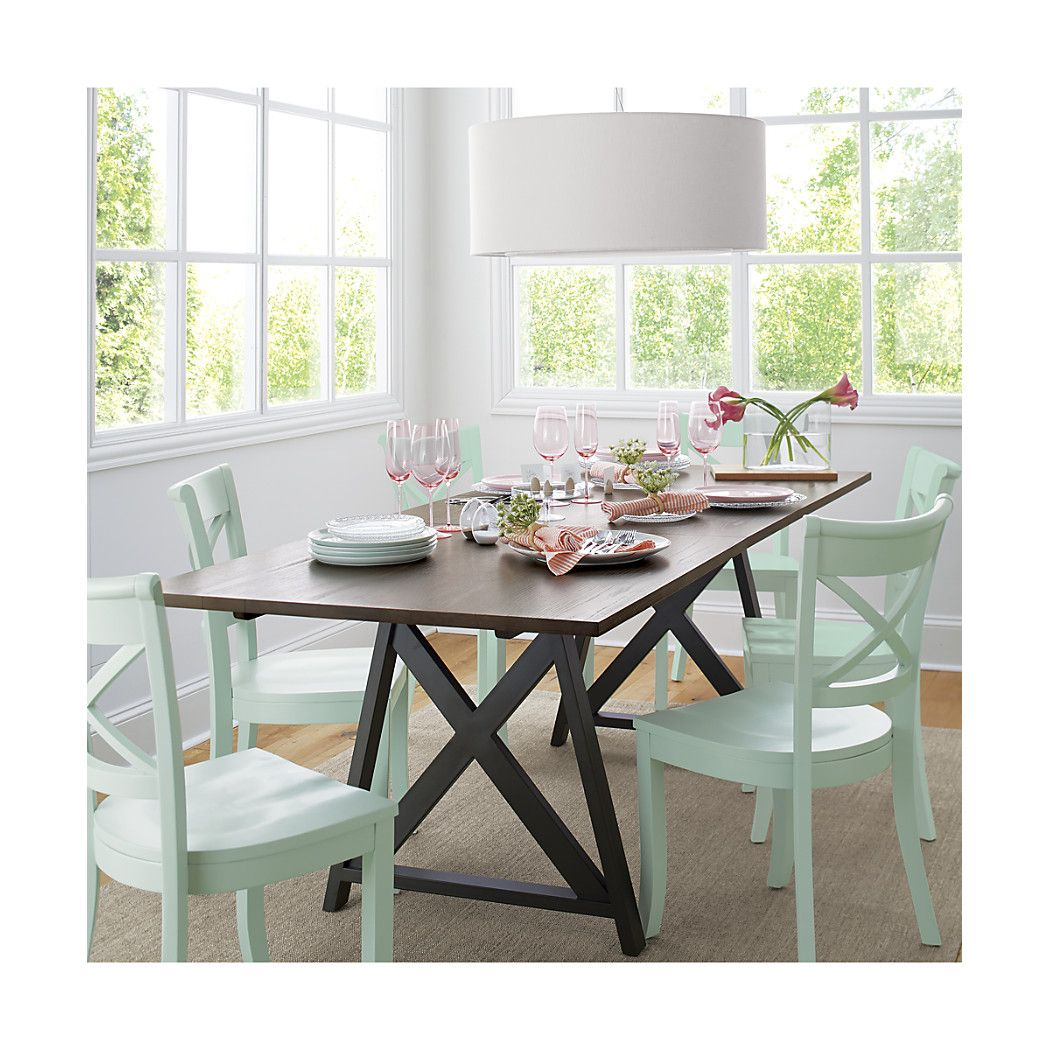 Metra extension dining table crate and barrel - Suitable For Small Spaces And Large The Mark Daniel Designed Table Seats Six Expanding To A Full 96 Inches With The Addition Of A Leaf