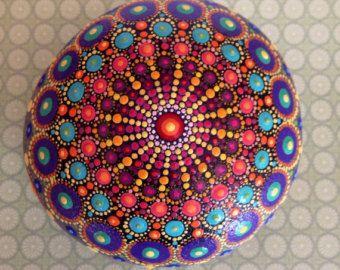 Pietra di Mandala mano dipinta