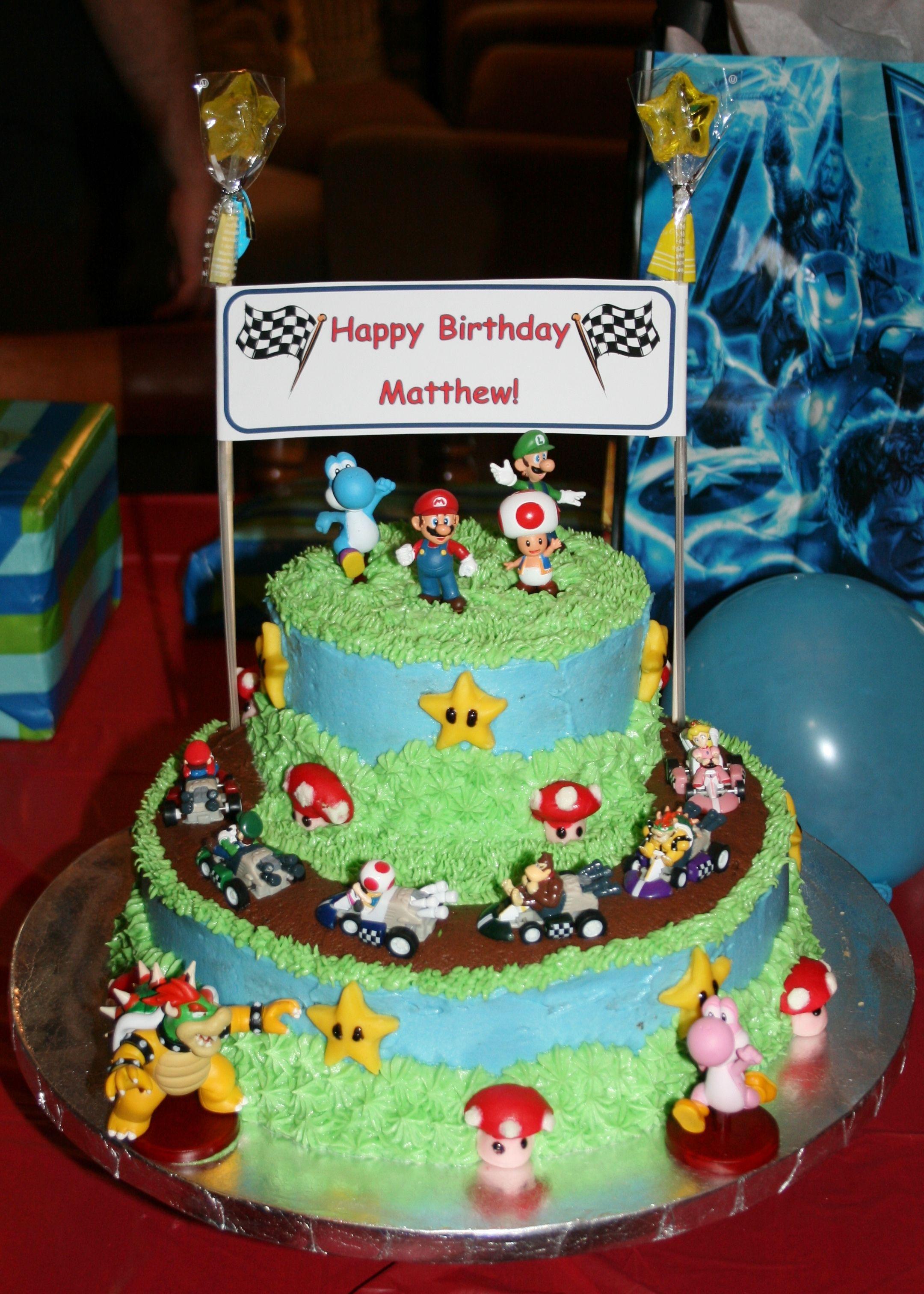 Mario Kart Cake Mini Cakes By Lisa Pinterest Mario Kart Cake