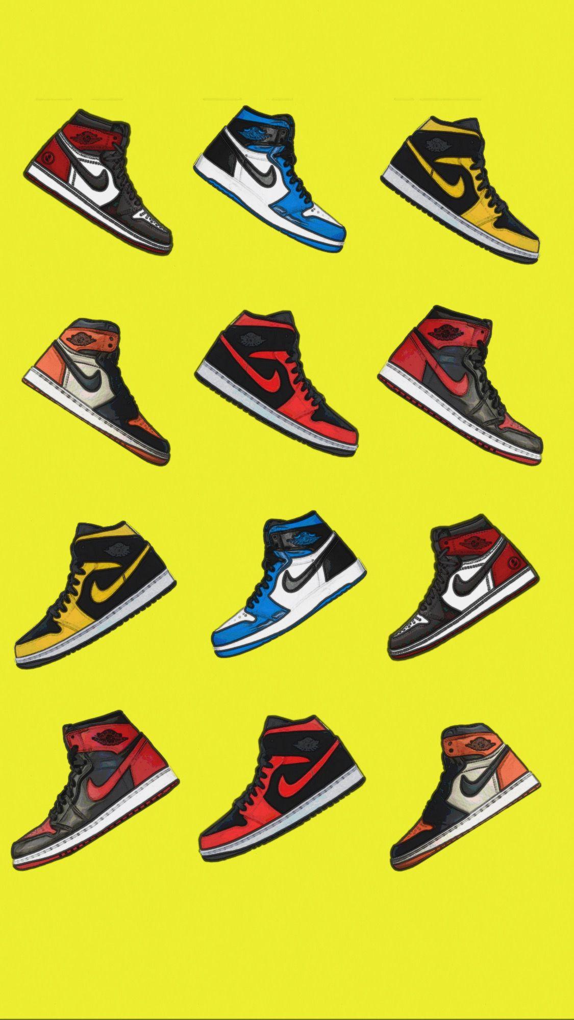 Air Jordan 1 Background Wallpaper