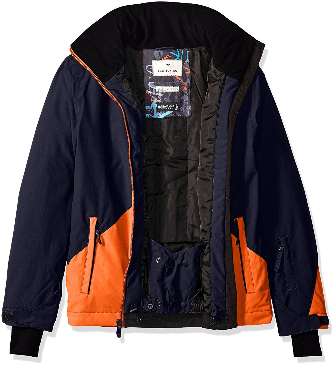 fda05d58a Quiksilver Big Boys' Mission Color Block Youth Snow Jacket Review | Down &  Down Alternative | Jackets, Hooded jacket, Nike jacket