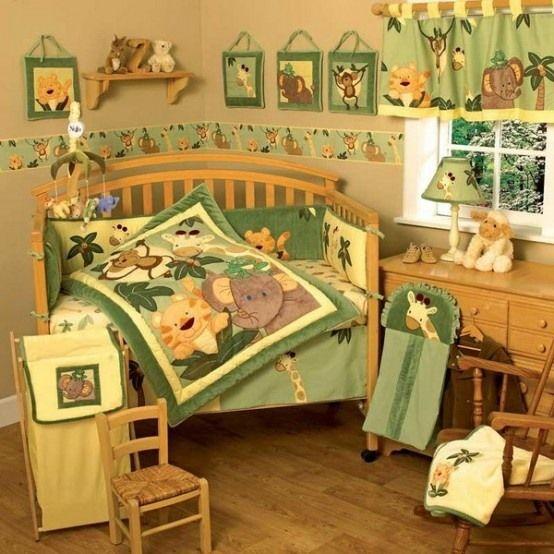 Babyzimmer junge dschungel  kleines kinderzimmer dschungel thema bettdecke | Dschungel zimmer ...