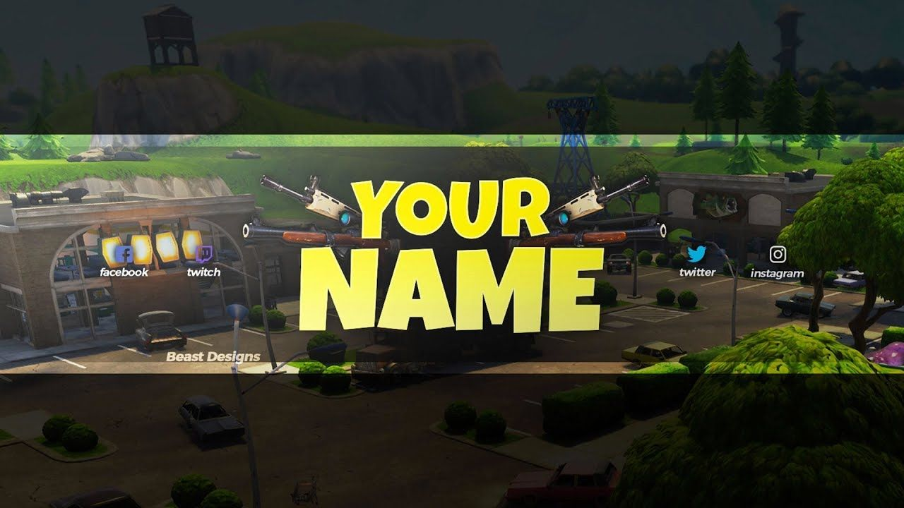 Fortnite Banner For Youtube No Text New Free 2018 Fortnite Banner