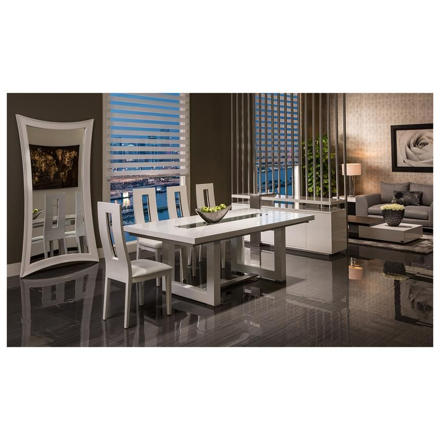 Novo White Extendable Dining Table Extendable Dining Table