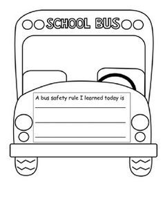 school bus safety worksheets - Google Search | Peaceful ...