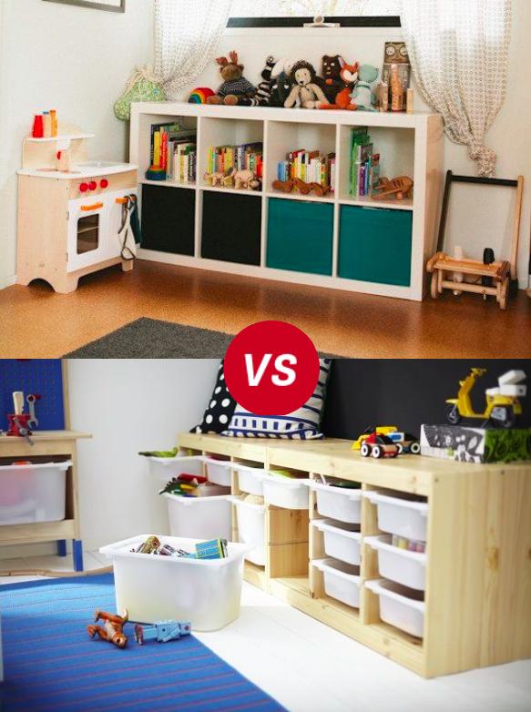 Childrens Kids 3 Tier Toy Bedroom Storage Shelf Unit 8: Kids Room Throwdown: Trofast Vs Kallax/Expedit