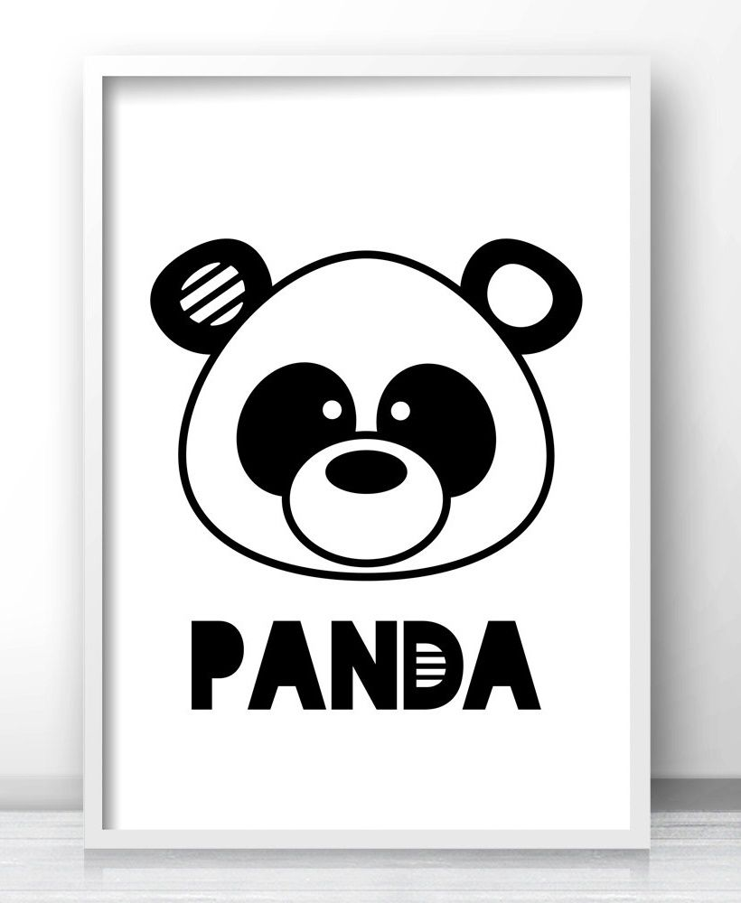 Panda bear nursery wall art printable kids wall art kids room panda bear nursery wall art printable kids wall art kids room decor panda art amipublicfo Gallery