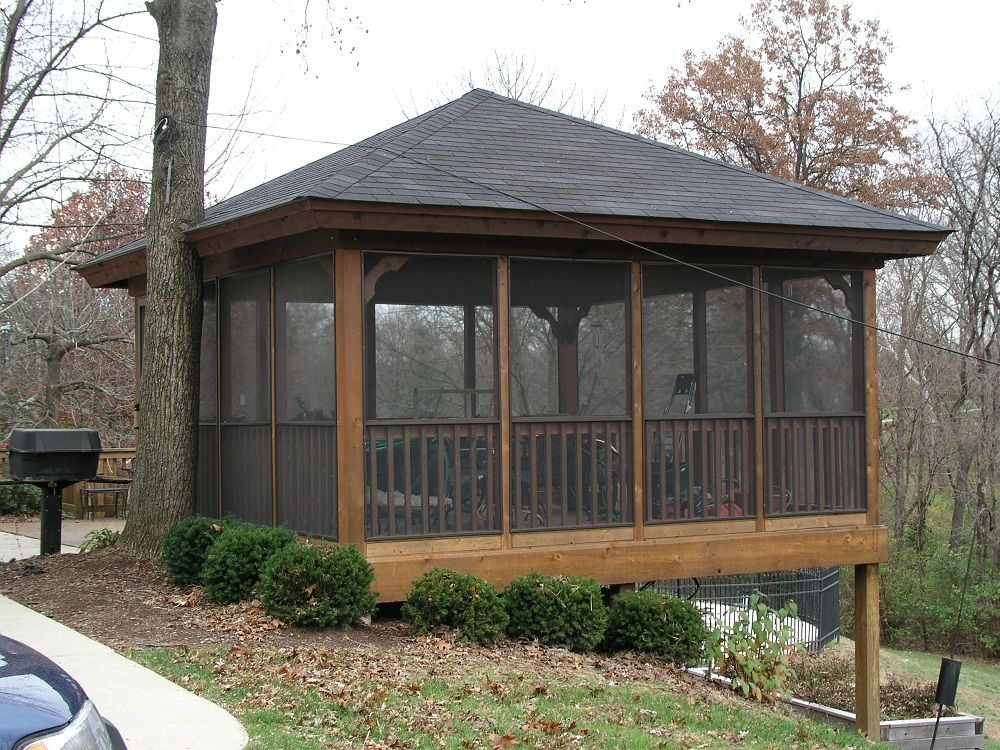 Ideas and designs screened gazebo pinteres Screened porch plans designs