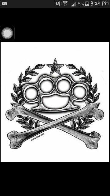 Brass knuckles tattoo design. | Tattoos | Brass knuckle ...