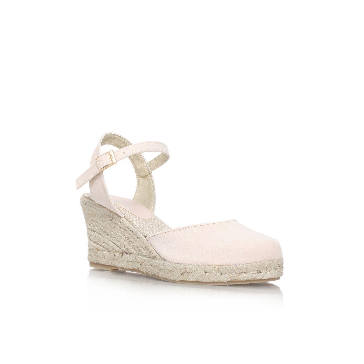 0e8f7e6a9b4 Nude  Sabrina  low wedge heel court shoe.