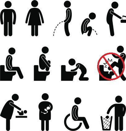 Etonnant Bathroom Signs Symbols.