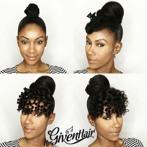 Faux Bang And Bun Ft Hergivenhair Clipin Extensions By