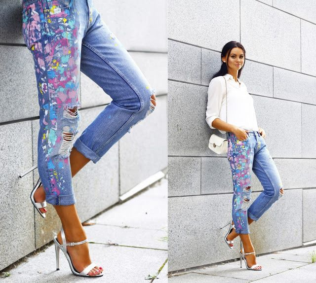 Dress-kot : Paint Splattered Jeans