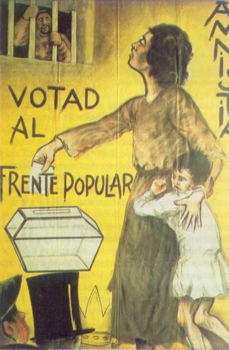 Spain - 1936-39. - GC - poster - Cartel Frente Popular