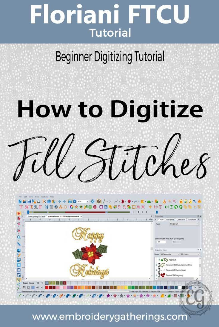 Learn to digitize with floriani ftcu. Tutorials and videos.