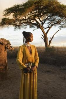Beautiful color- Valentino Spring 2016 campaign shot in Kenya