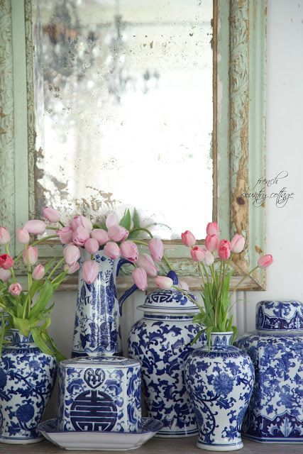 Best Blue And White Chinoiserie Chic White Decor Blue 400 x 300