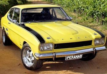 Ford Capri Perana With V8 Mustang Engine With 450hp Voiture Vehicule Ancien Camion