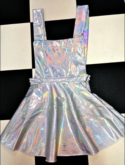 43423b74860 SWEET LORD O MIGHTY! HOLOGRAM PINAFORE DRESS