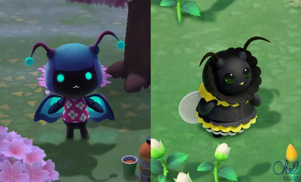 Bonus bug villagers butterfly and bumblebee