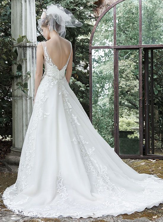 Plunging v back | Astra Bridal | Maggie Sottero Sybil | | Gowns with ...