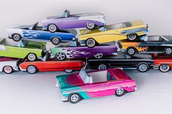 50s cajas de comida Classic Car (cantidad de 10 coches)