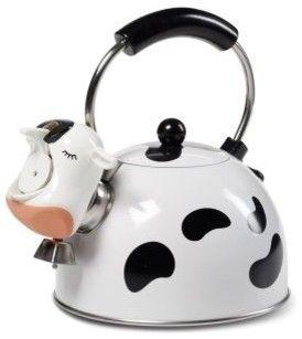 Kamenstein Cow Tea Kettle   Modern   Coffee Makers And Tea Kettles     By  Hayneedle