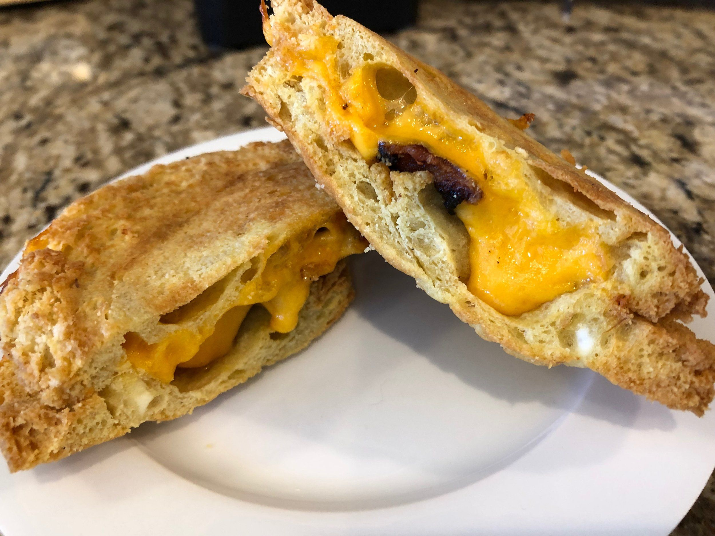 Air Fryer Bacon Grilled Cheese Keto grilled cheese, Food