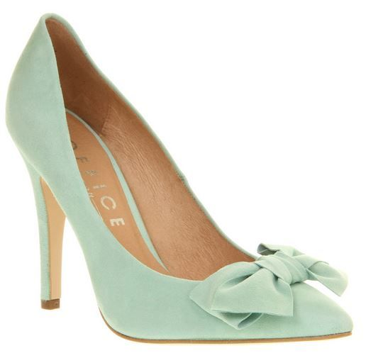 Mint green shoes, Bow shoes