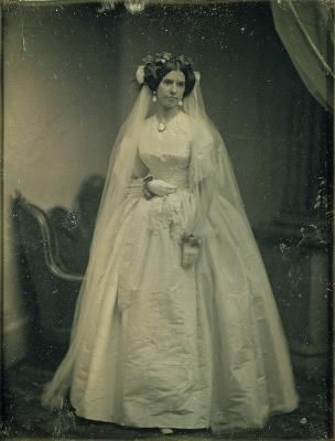 Southworth Hawes Unidentified Female In Wedding Dress Ca 1850 Full Plate Dag