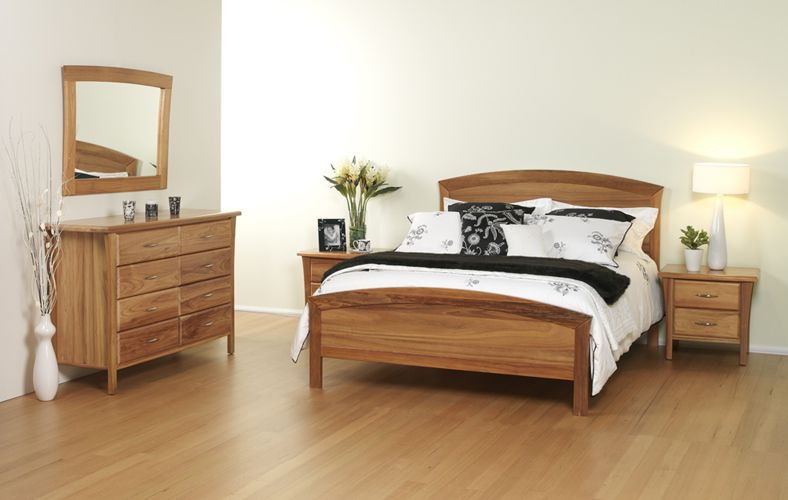 Forty Winks Bentley light wood stained bedroom furniture suite ...