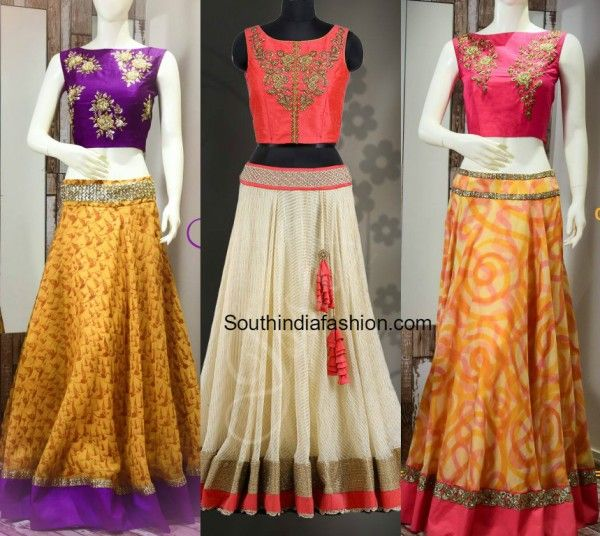 Designer Long Skirts and Crop Tops by Ashwini Reddy photo ...