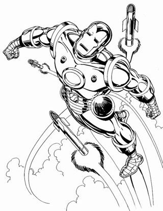 dibujos de ironman para colorear en pelea | Super Heroes Marvel ...