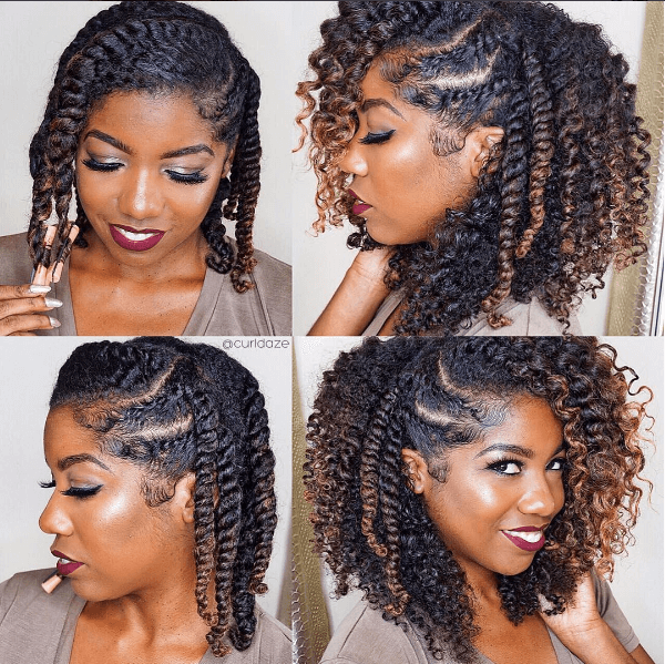 How To Style Natural Hair Impressive Soooo Pretty Doing This Style Next  Twist  Pinterest