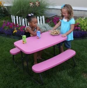 80156 Lifetime Children S Picnic Table Pink Folding Table Kids