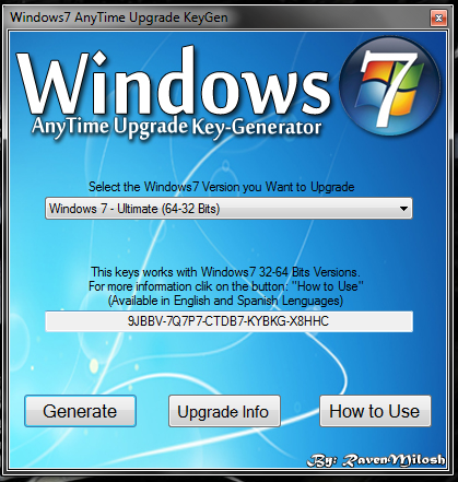 windows upgrade key for windows 7 ultimate