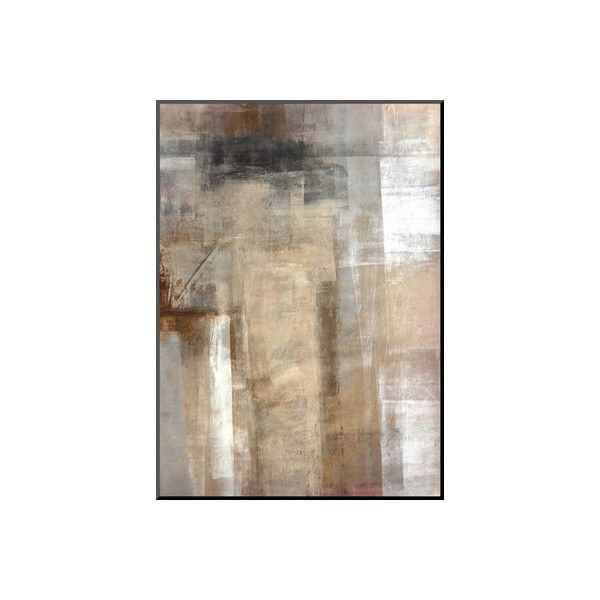 Wildon Home ® 'Brown and Grey Abstract Art Painting' by T30Gallery... ($305) ❤ liked on Polyvore featuring home, home decor, wall art, grey home decor, abstract home decor, gray home decor, brown home decor and abstract wall art