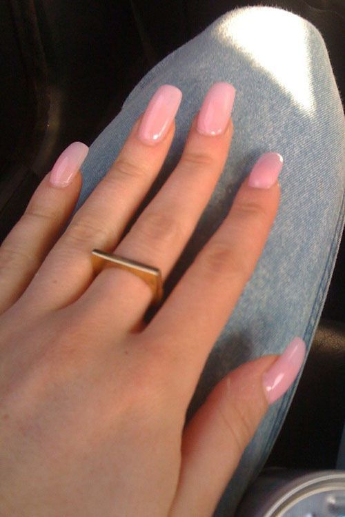 49 Short Square Round Acrylic Nail Designs Awimina Blog Pink Acrylic Nails Light Pink Acrylic Nails Rounded Acrylic Nails