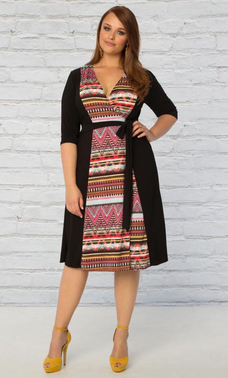 7c9bcd4a245 ... size fashion forward women. Curvalicious Clothes has the latest styles  in plus sizes. In the Mix Wrap Dress (affiliate link)