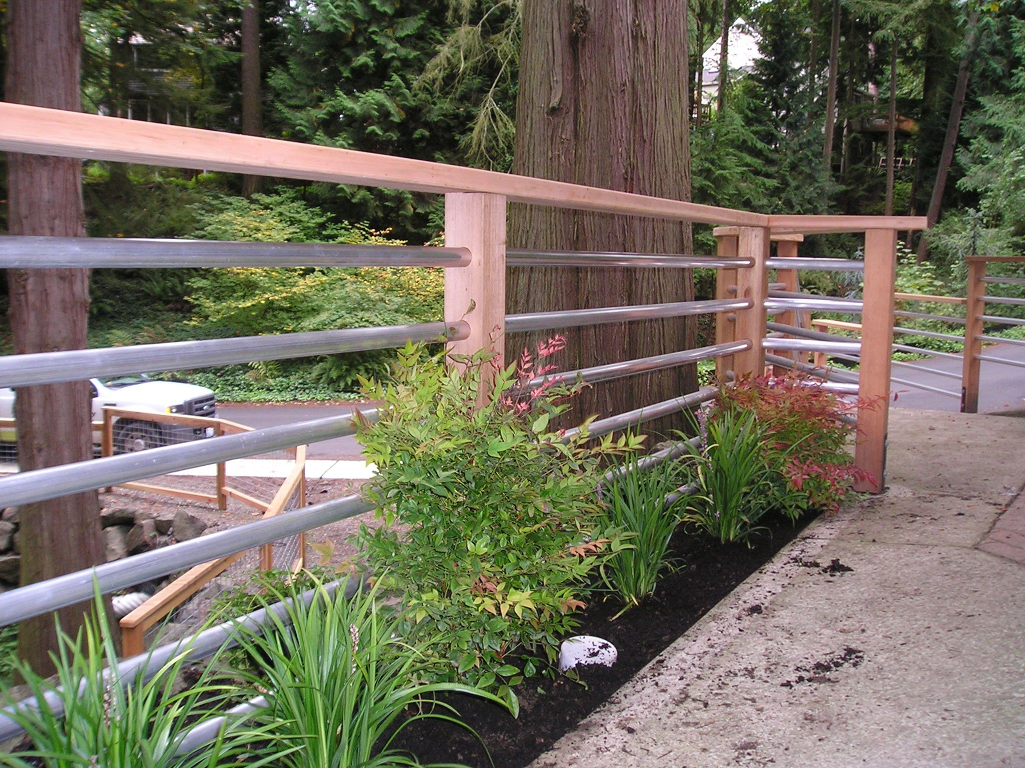 Best 25 railings for decks ideas on pinterest deck railings railing option to consider galvanized pipe for clean look and less expensive than cable rail baanklon Image collections