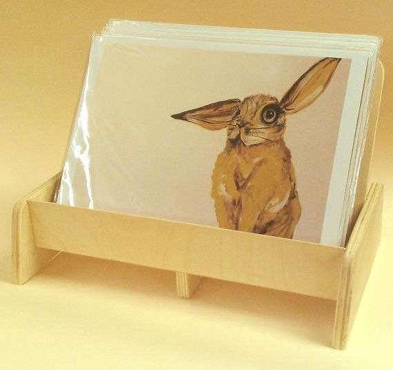 Wood Display Rack Perfect For Art Prints At The Markets Craft Simple Art Print Display Stand