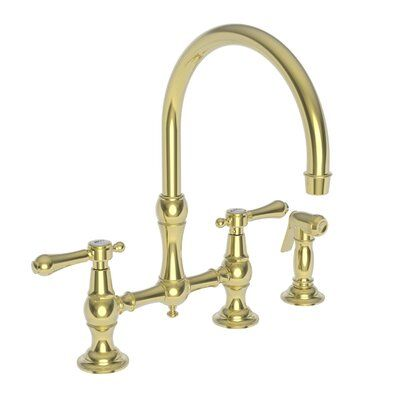Newport Brass Chesterfield Bridge Faucet With Side Spray In 2020