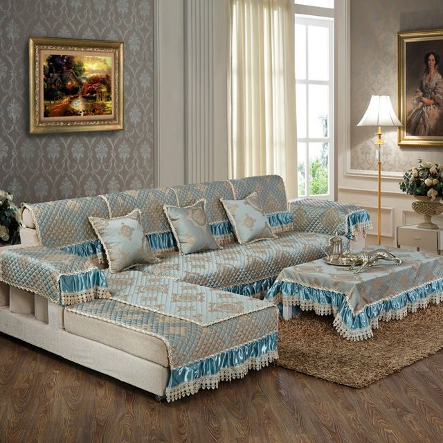 Source Sofa Slip Covers Custom Polyester Green Lace Ready Made Sofa Set  Covers On M.