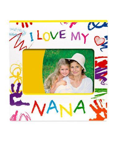 white i love my nana frame - Nana Frame