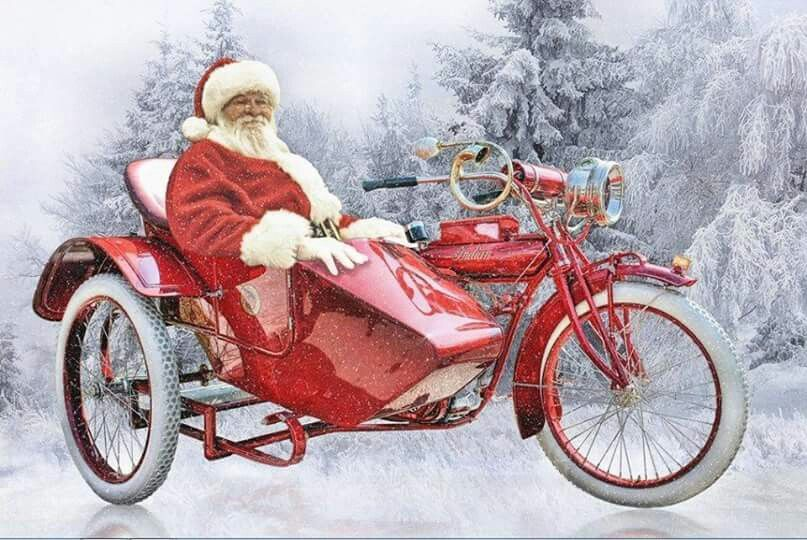 """Sidecar 1 """"Indian with Santa"""""""