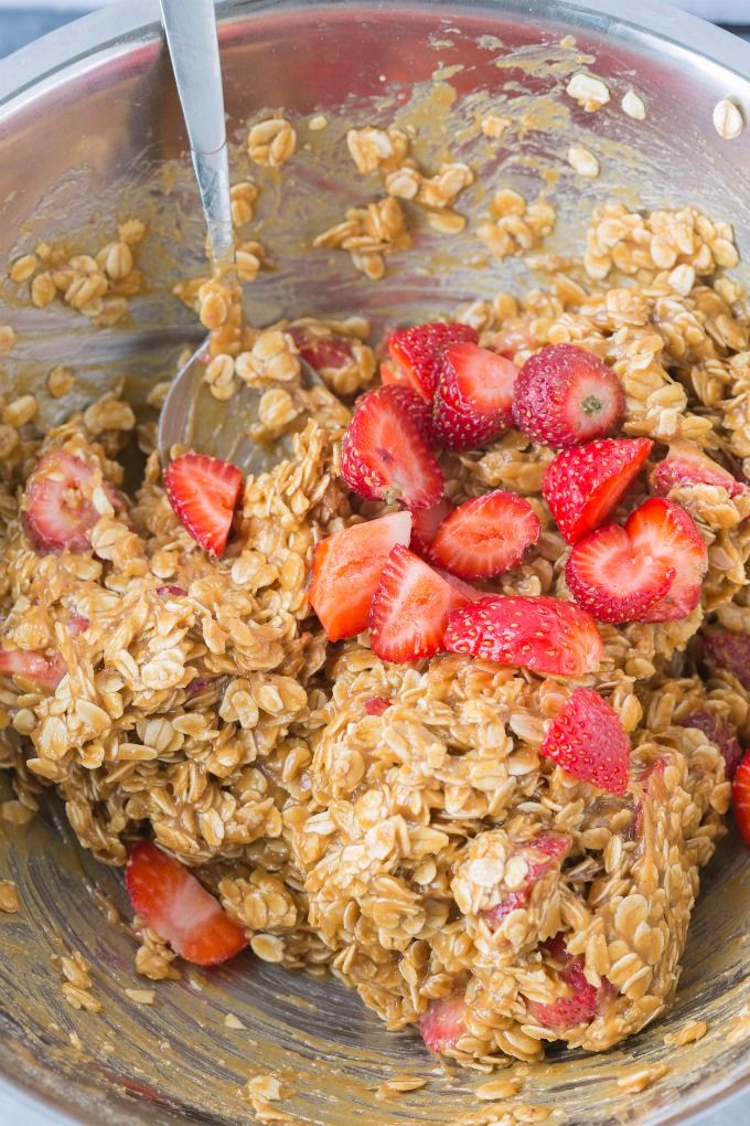 Strawberry Oatmeal Cookies {4 Ingredients!} - The