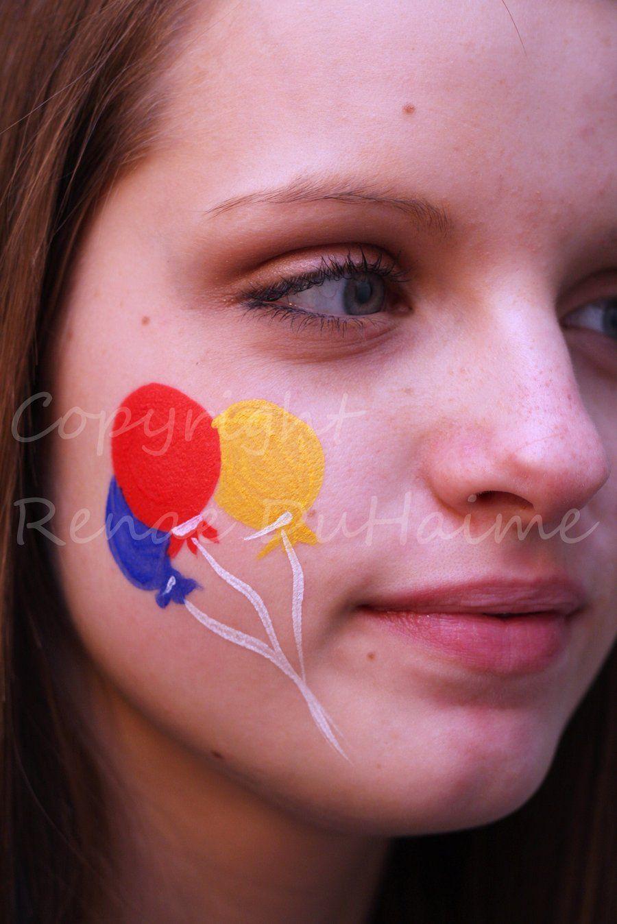 Uncategorized Simple Face Painting Designs Kids standard cheek balloons by renduh facepaint on deviantart work face painting ideas for kids